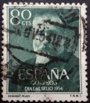 Sellos de Europa - Espa�a -  D�a del Sello 1954