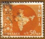Sellos del Mundo : Asia : India : Mapa de India