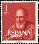 Stamps Spain -  Canonización del beato Juan de Ribera