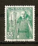 Stamps Spain -  Franco y castillo de La Mota.