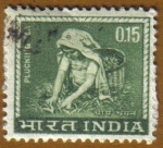 Stamps India -  Recogedora de Té