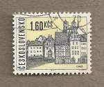 Stamps Czechoslovakia -  Ciudad de Cheb