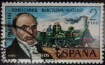 Stamps of the world : Spain :  125 Aniversario del Ferrocarril Barcelona-Mataró