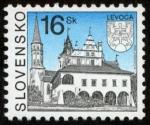 Sellos del Mundo : Europa : Eslovaquia : ESLOVAQUIA - Levoča, castillo de Spiš y los monumentos culturales asociados