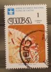 Sellos del Mundo : America : Cuba : jardin botanico nacional, flores de cactus. leon
