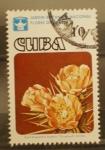 Sellos del Mundo : America : Cuba : jardin botanico nacional, flores de cactus. areces