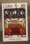 Stamps Cuba -  pintores cubanos, pez, amelia pelaez