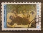 Sellos de America - Cuba -  pintores cubanos, bañistas, j. arche