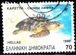 Sellos de Europa - Grecia -  Tortuga. Caretta caretta