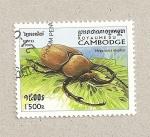 Sellos de Asia - Camboya -  Megasoma elephas