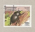 Sellos de Asia - Camboya -  Geotrupes