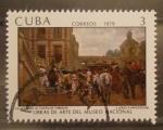 Sellos del Mundo : America : Cuba : obras de arte museo nacional, la llegada al castillo throups, j. louis e. meissonier