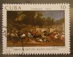 Sellos de America - Cuba -  obras de arte museo nacional, una capea, e. de lucas padilla