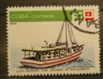 Sellos del Mundo : America : Cuba : flota pesquera cuba, escamero de ferrocemento