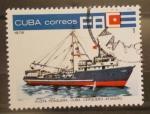 Sellos del Mundo : America : Cuba : flota pesquera cuba, cerquero atunero