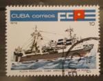 Sellos de America - Cuba -  flota pesquera cuba, arrastrero por la popa
