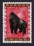 Stamps : Africa : Rwanda :  GORILLA