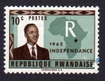 Stamps : Africa : Rwanda :  1962 INDEPENDANCE
