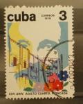 Sellos de America - Cuba -  XXV aniversario asalto cuartel moncada