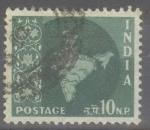 Sellos de Asia - India -  INDIA_SCOTT 308 MAPA INDIA(10NP)