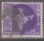 Stamps : Asia : India :  INDIA_SCOTT 310.01 MAPA INDIA(15NP) $0,20