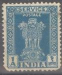 Stamps : Asia : India :  INDIA_SCOTT O116 LEON DE PILARES DE ASOKA(1A) $0,20