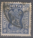 Stamps : Asia : India :  INDIA_SCOTT O159 LEON DE PILARES DE ASOKA(30P) $0,20