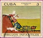 Sellos de America - Cuba -  Dibujos Infantiles - El Pequeño Tren.