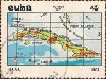 Stamps Cuba -  Mapas de Cuba. 1973.