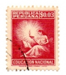 Sellos del Mundo : America : Perú : EDUCACION NACIONAL-TIMBRE-1965