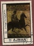 Stamps United Arab Emirates -  AJMAN  -  Mosaico - Romano a Caballo