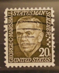 Stamps United States -  george c marshall