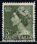 Sellos de America - Argentina -  Scott  257  Reina Elizabel II