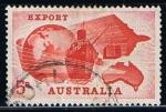 Sellos de Oceania - Australia -  Scott  356  Mapa de Australia