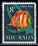 Sellos de Oceania - Australia -  Scott  404  coral Fish