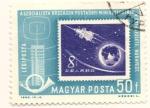 Sellos de Europa - Hungría -  Capsula espacial