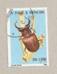 Stamps São Tomé and Príncipe -  Ciervo volante gigante