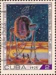 Sellos de America - Cuba -  El Cosmos del Futuro II - Explorador Extraterreno A.Socolov A.Leonov.
