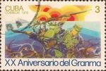 Stamps Cuba -  XX Aniv. del Granma - Desembarco.