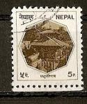Sellos del Mundo : Asia : Nepal : Serie Basica - Templo.