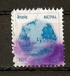 Sellos del Mundo : Asia : Nepal : Serie Basica - Paisaje.