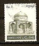 Stamps Pakistan -  Mausoleo de Ibrahim Khan Makli.