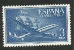 Stamps Spain -  1175 - superconstellation y nao santa maría