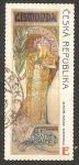 Sellos de Europa - República Checa -  563 - Cartel con la actriz francesa Sarah Bernhardt