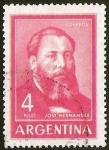 Stamps Argentina -  JOSE HERNANDEZ