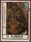 Sellos de Asia - Emiratos Árabes Unidos -  AJMAN - detalle mosaico romano