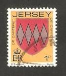Sellos del Mundo : Europa : Isla_de_Jersey : 237 - blasón de la familia de Carteret