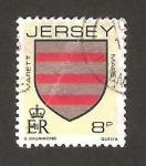 Sellos del Mundo : Europa : Isla_de_Jersey : 244 - blasón de la familia Marrett