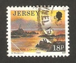 Sellos del Mundo : Europa : Isla_de_Jersey : 467 - vista del faro de Corbiere