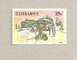 Sellos del Mundo : Africa : Zimbabwe : Parada de autobuses